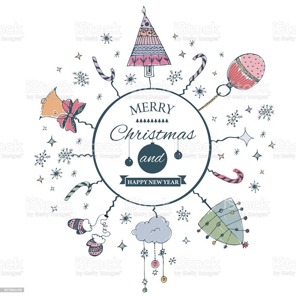 Merry christmas ecard template vector illustration stock vector art merry christmas e card template vector illustration royalty free merry christmas ecard toneelgroepblik Image collections