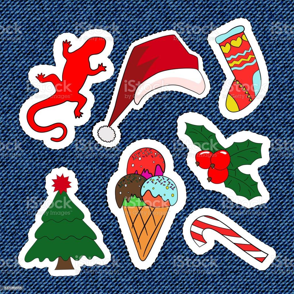 Merry Christmas Borduurwerk Patches Snoep Kerstman Boom Snoep Set