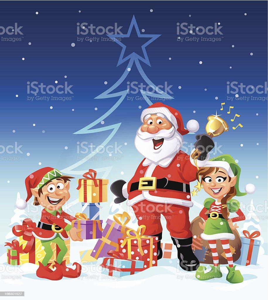 Merry Christmas Everyone royalty-free stock vector art