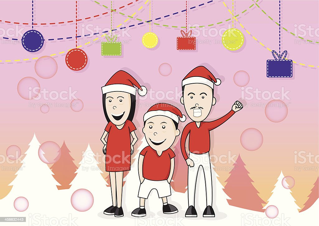 merry christmas family royalty-free merry christmas family stock vector art & more images of adult