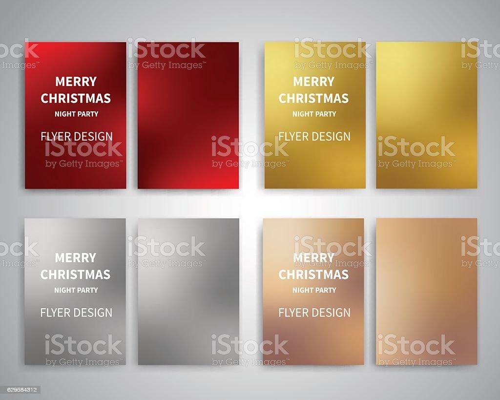 Merry Christmas Flyer design templates vector art illustration