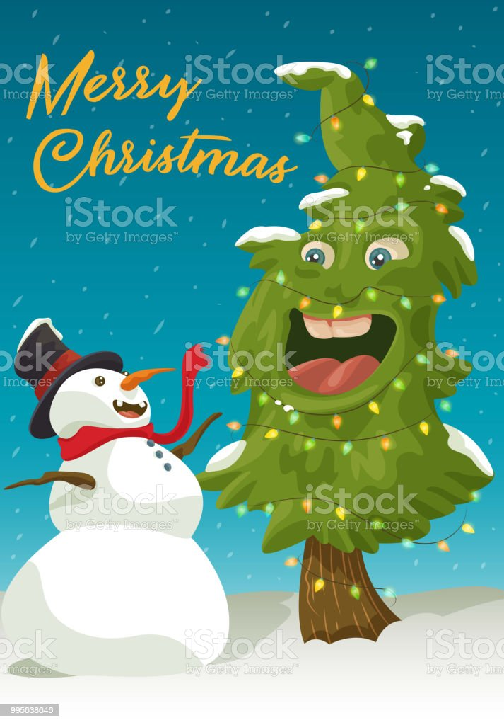 Merry Christmas Folks! vector art illustration