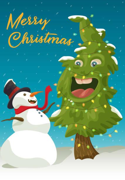 Merry Christmas Folks! vector art illustration