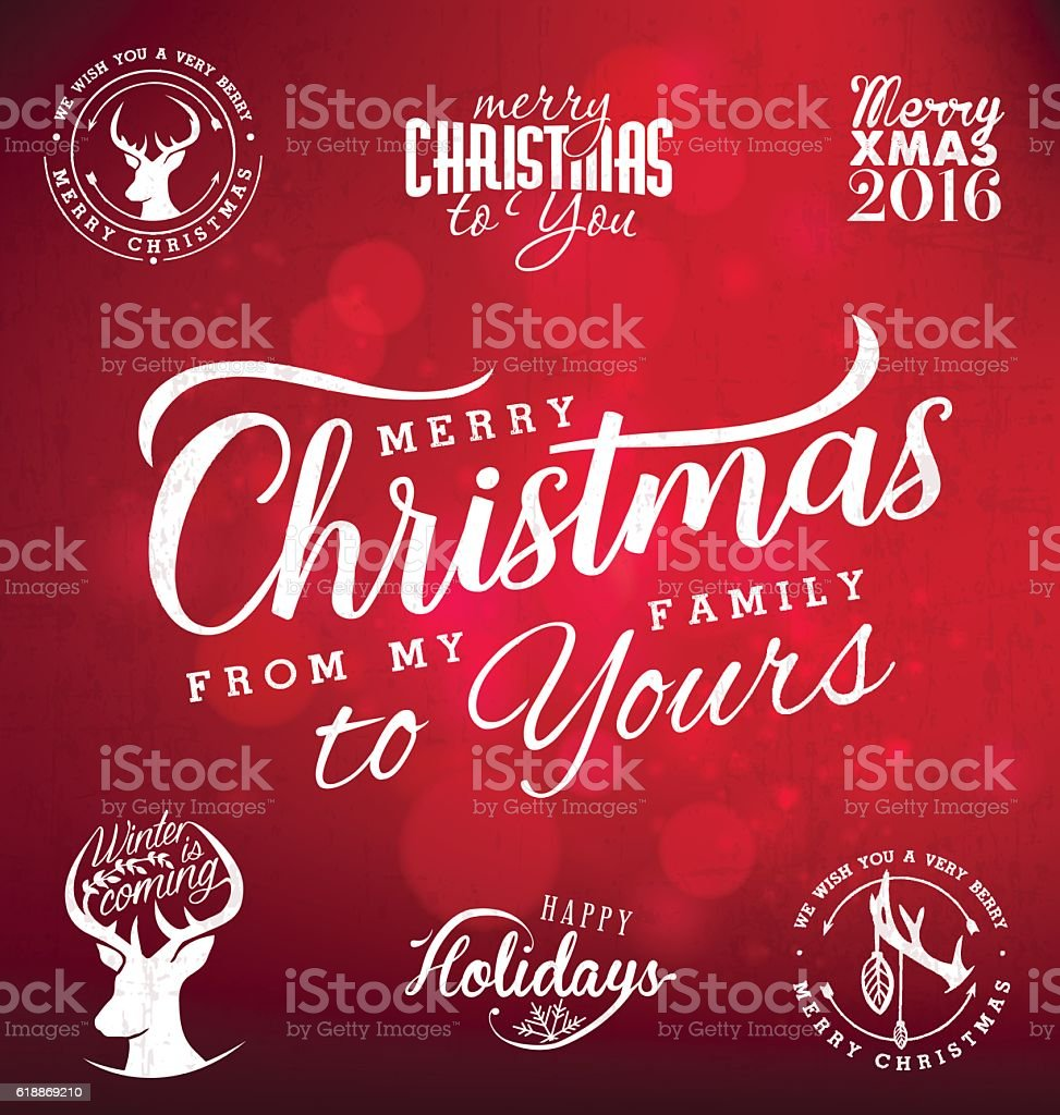 merry christmas from my family to yours design elements royalty free merry christmas from my