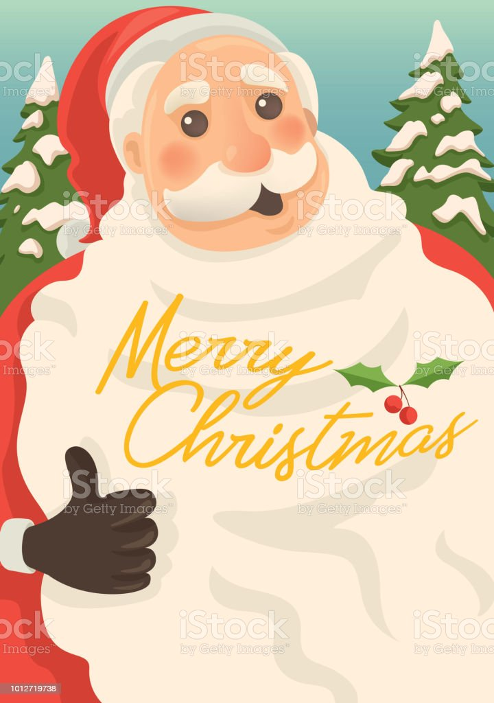 Merry Christmas from Santa vector art illustration
