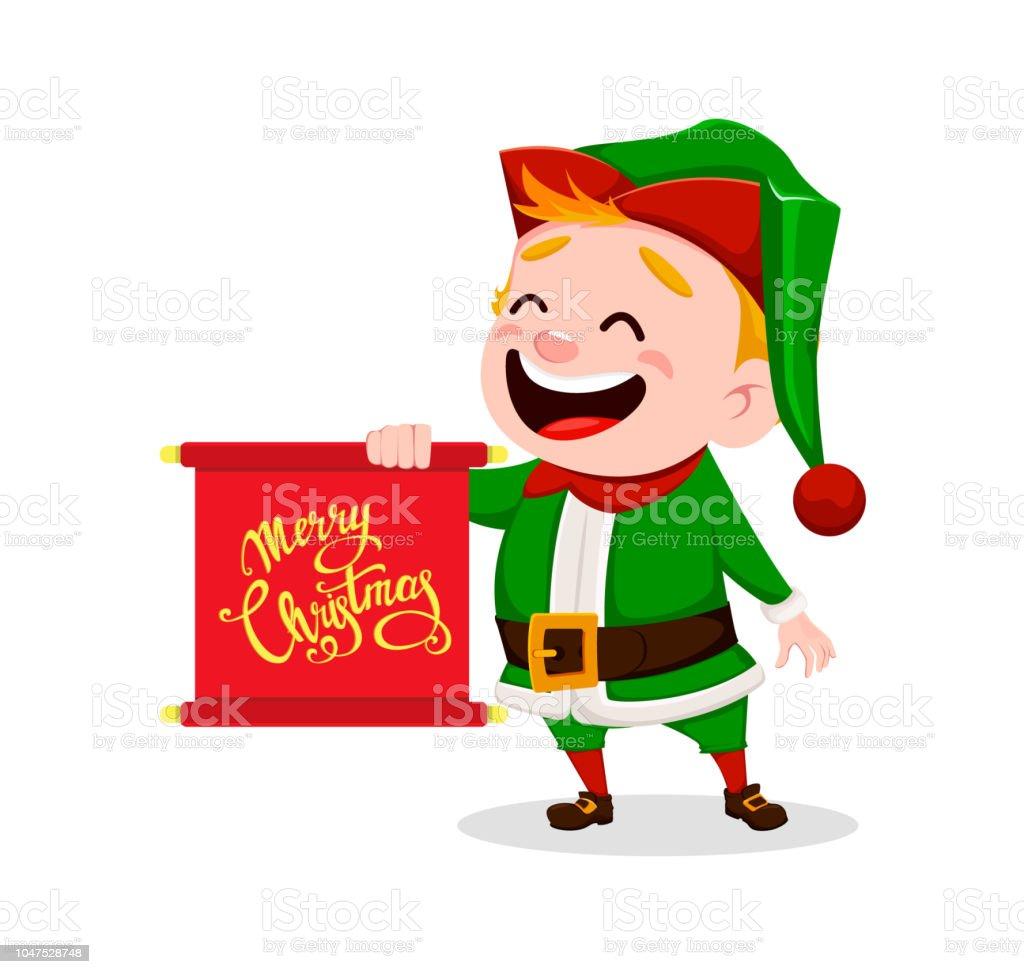 Merry Christmas Funny Santa Claus Helper Stock Vector Art & More ...