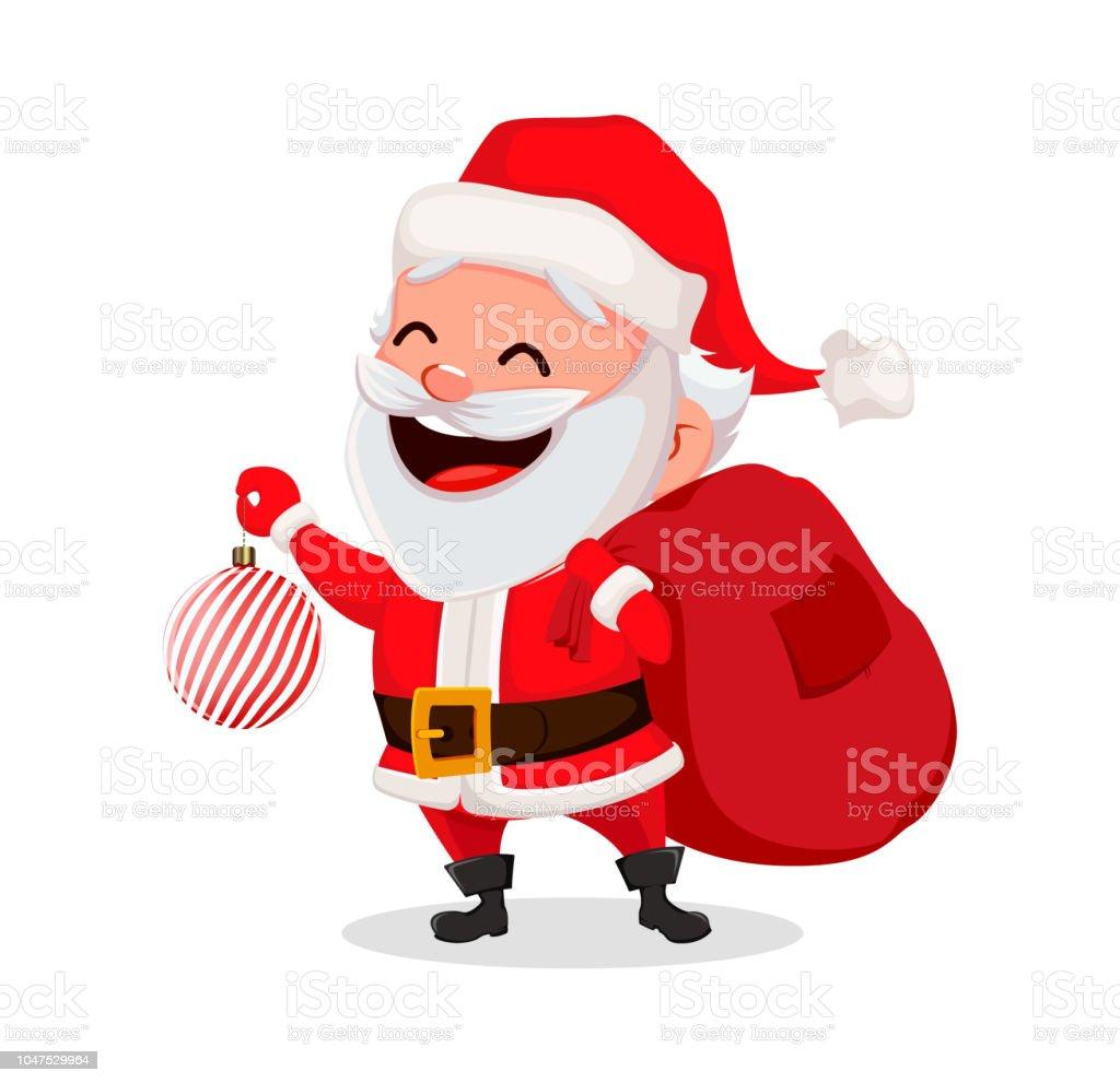 Lustige Bilder Frohe Weihnachten.Frohe Weihnachten Lustige Weihnachtsmann Stock Vektor Art Und Mehr