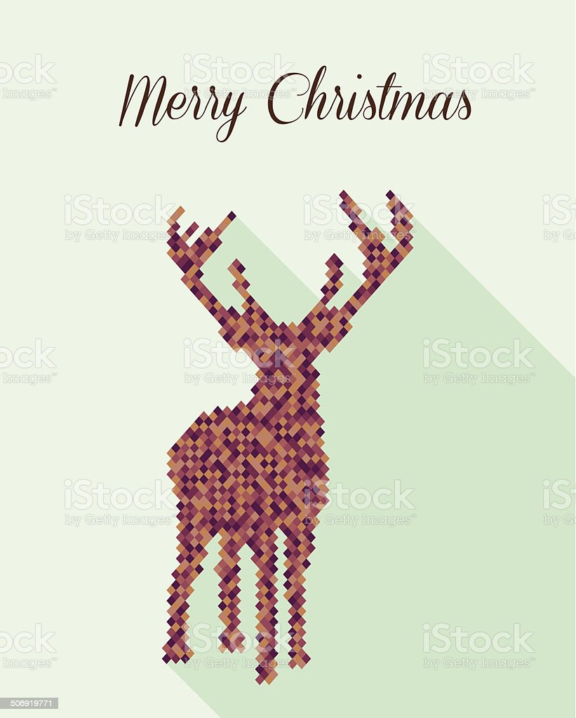 Merry Christmas geometric abstract reindeer royalty-free merry christmas geometric abstract reindeer stock vector art & more images of abstract