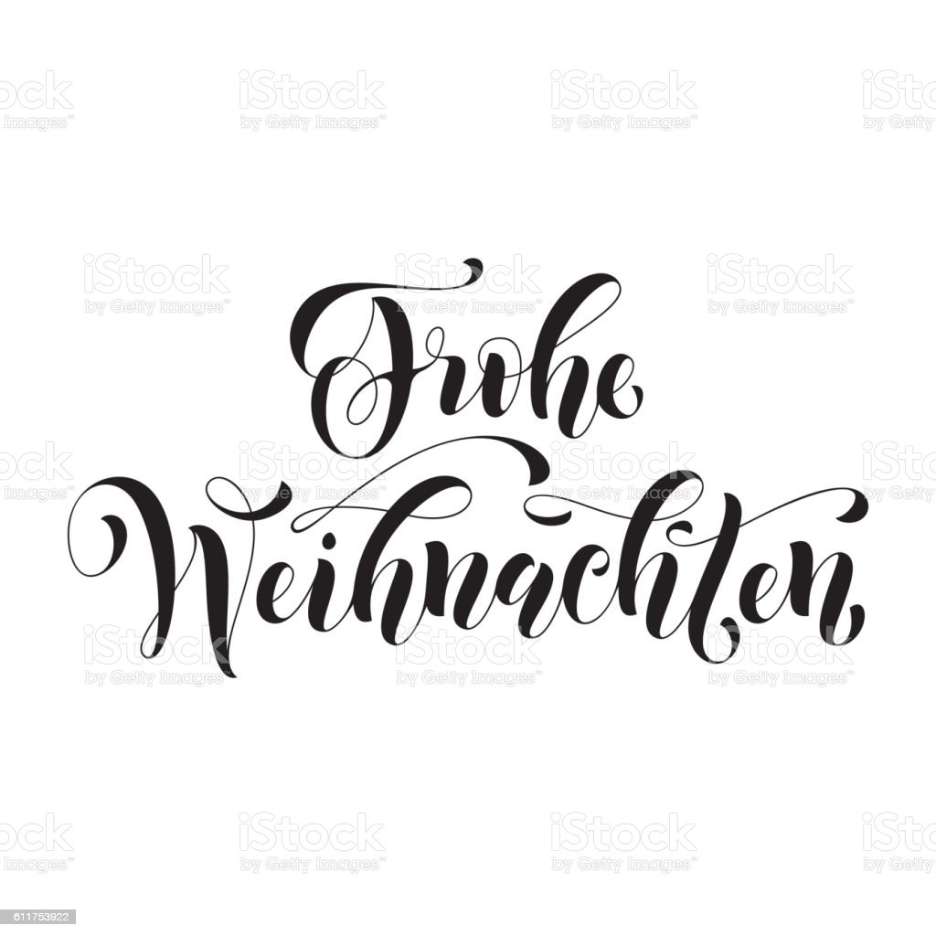Frohe Weihnachten german Christmas greeting card - Royalty-free Afiş Vector Art