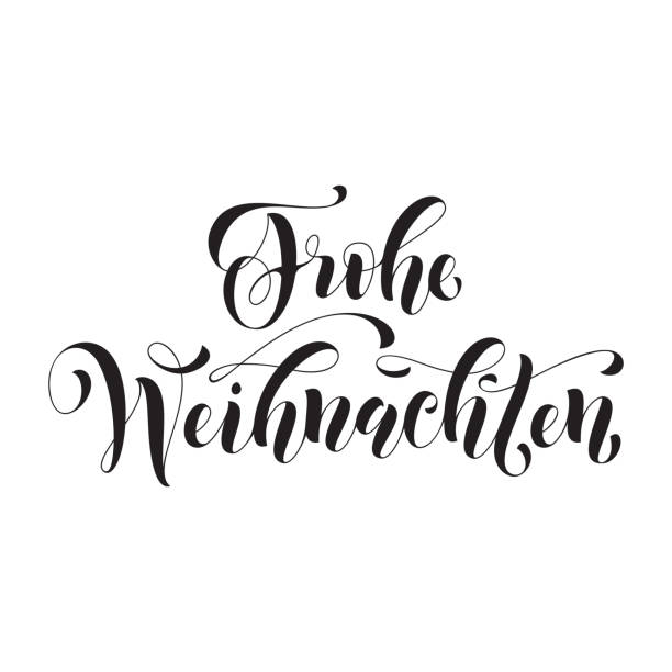 frohe weihnachten german christmas greeting card - weihnachten stock illustrations