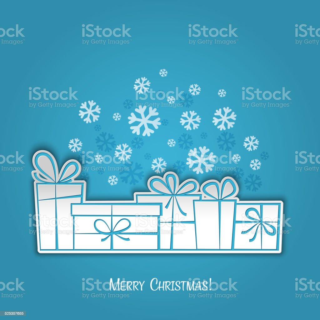 Biglietti Di Natale Di Carta.Buon Natale Regalo Di Biglietti Dauguri Progettazione Di Carta