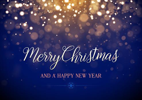 Merry Christmas glitter card vector illustration design