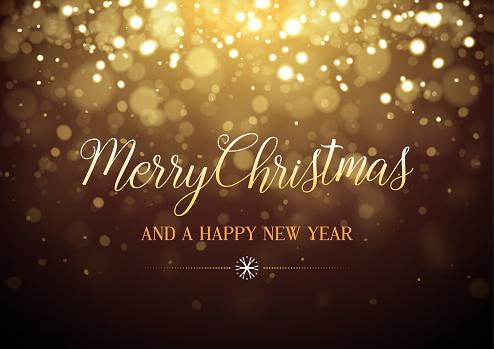 Merry Christmas glitter vector illustration