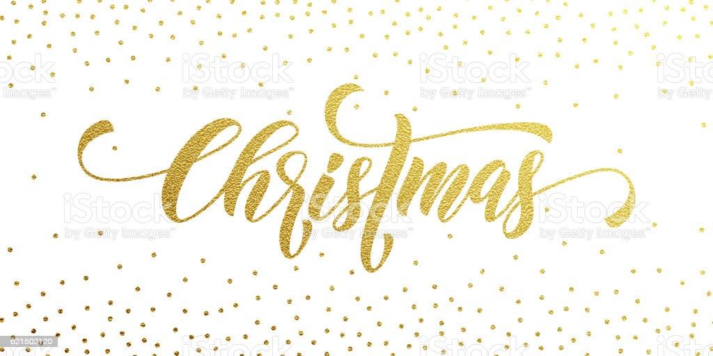 Merry Christmas gold greeting card, poster glitter Lizenzfreies merry christmas gold greeting card poster glitter stock vektor art und mehr bilder von bildhintergrund