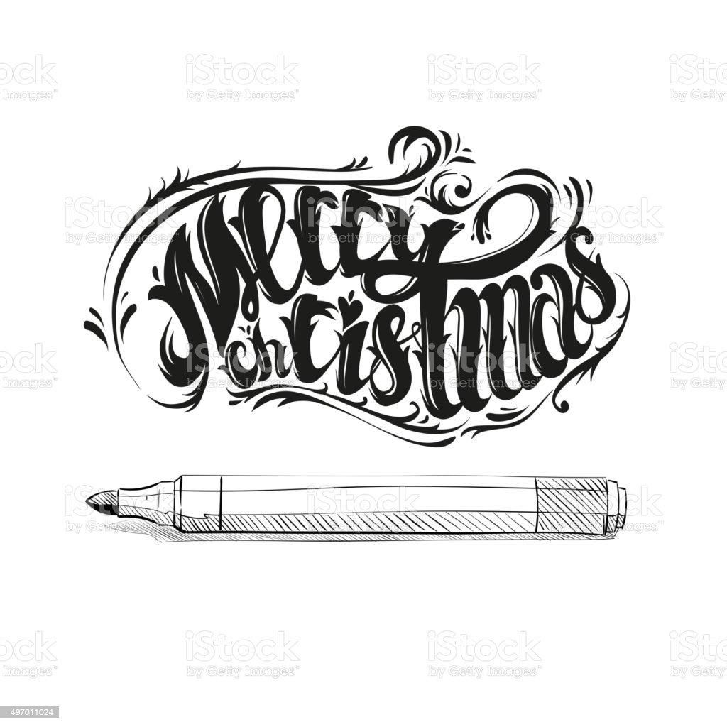 Christmas Graffiti Letters.Merry Christmas Graffiti Letters Design Vector Illustration