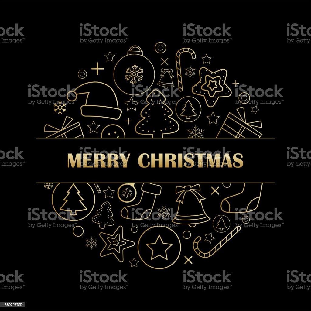 Ilustracion De Feliz Navidad Tarjeta De Felicitacion E Invitaciones