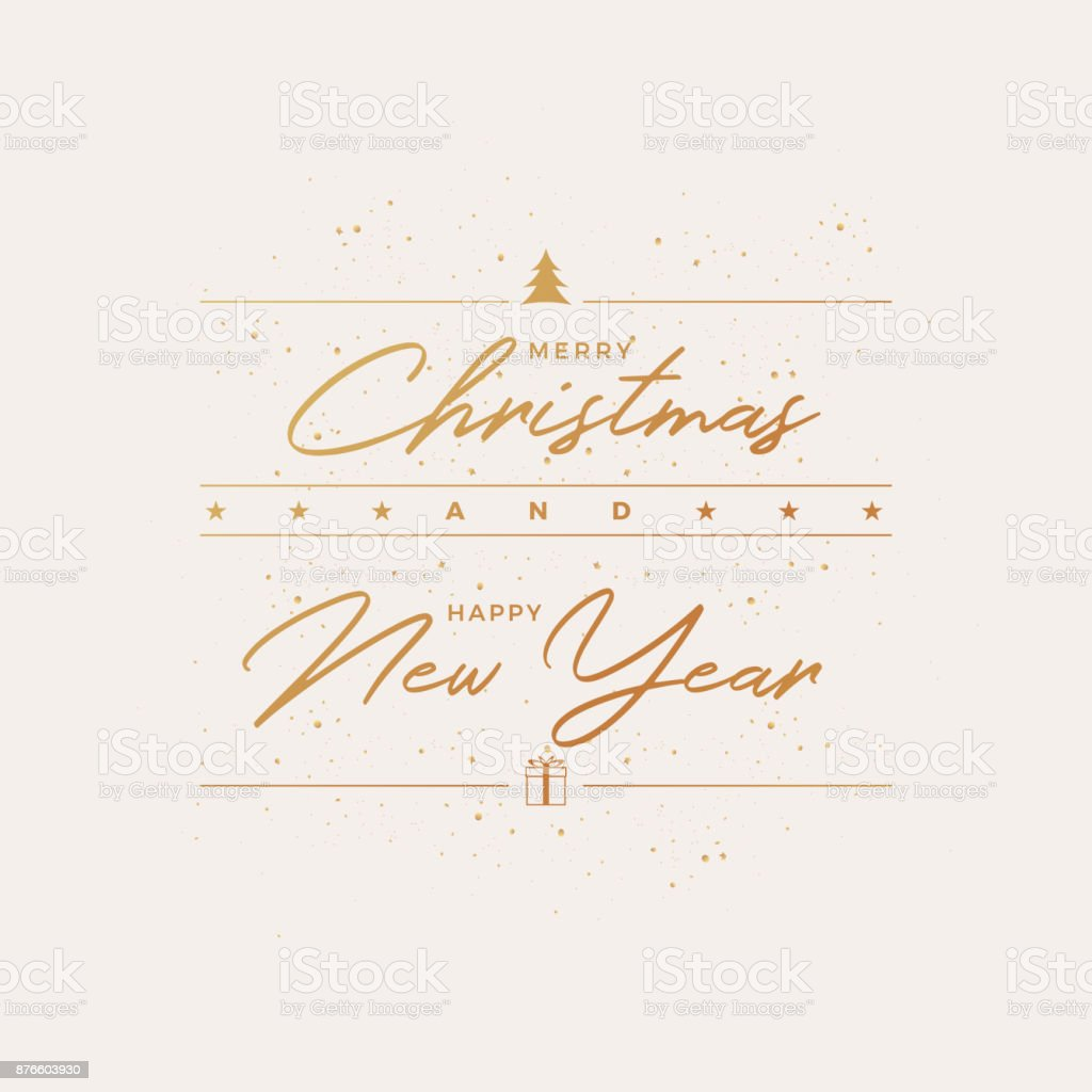 Merry Christmas Greeting Card Design vector art illustration