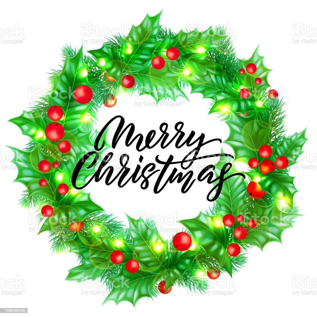 Schriftart Weihnachten.Frohe Weihnachten Grußkarten Gestalten Mit Kalligraphie Schrift Auf