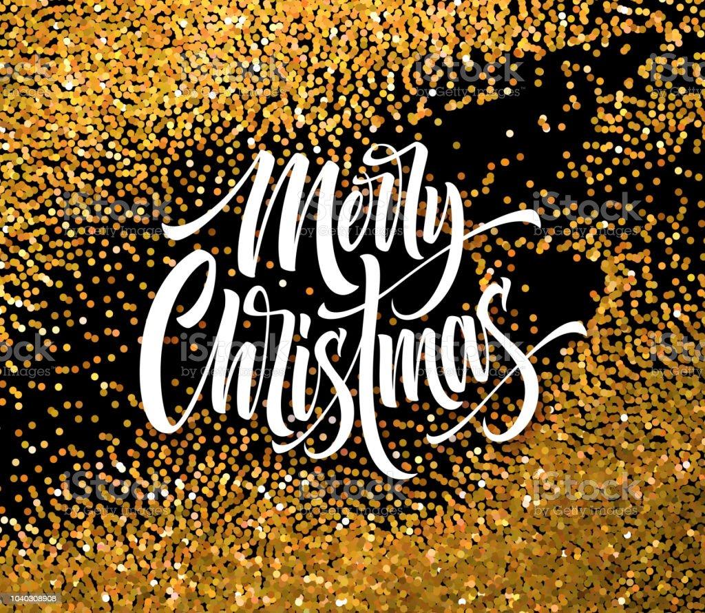 Frohe Weihnachten Glitzer.Frohe Weihnachten Glitzer Vektor Grusskartenvorlage Stock