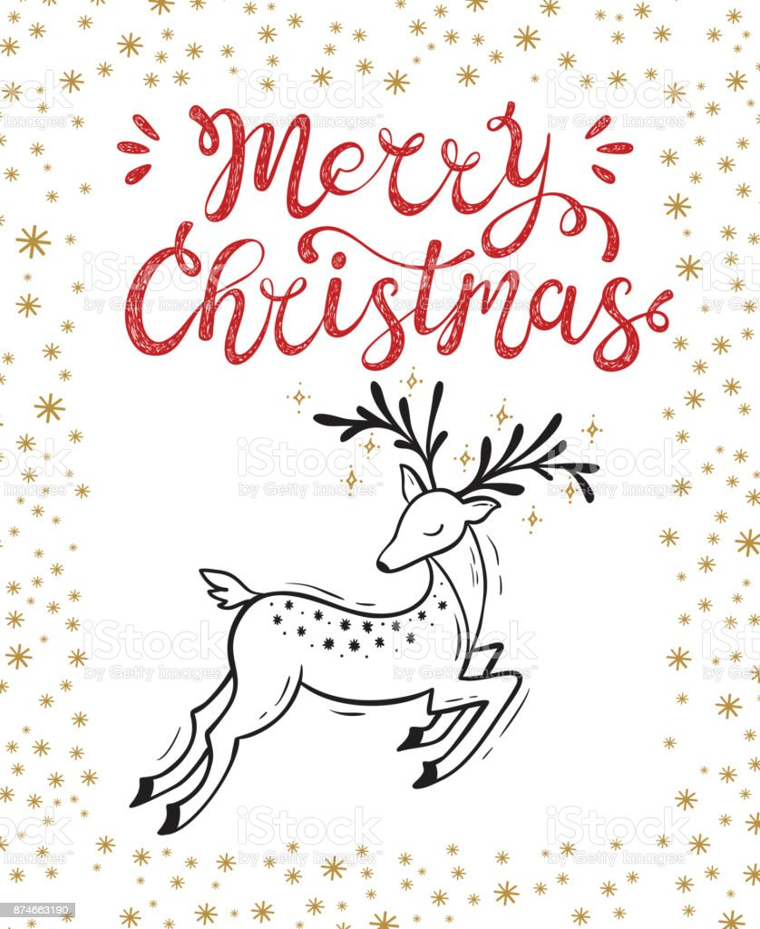 Merry christmas greeting card happy holidays vector winter holiday merry christmas greeting card happy holidays vector winter holiday background with hand lettering calligraphic m4hsunfo