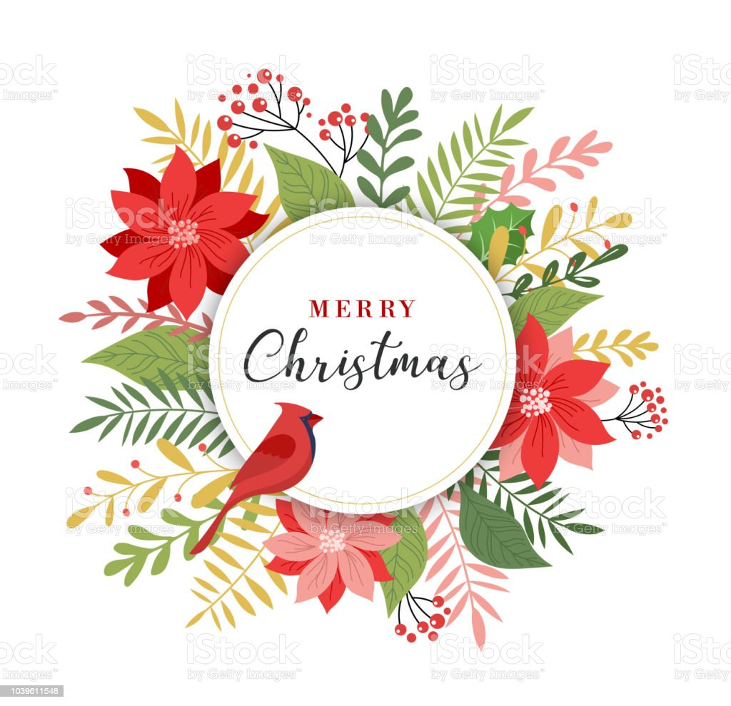 Merry Christmas Greeting Card In Elegant Modern And Classic