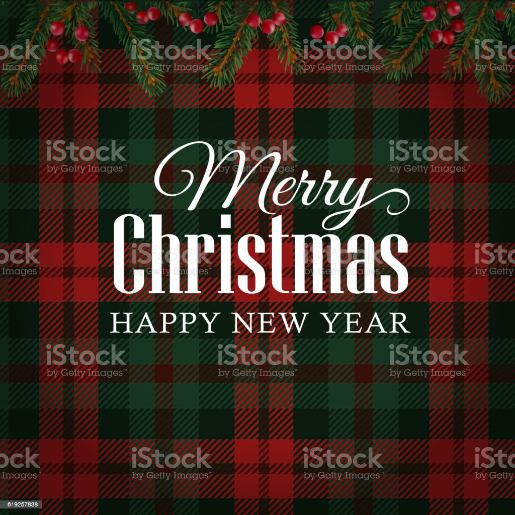 Merry christmas greeting card invitation christmas tree branches red merry christmas greeting card invitation christmas tree branches red berries royalty m4hsunfo