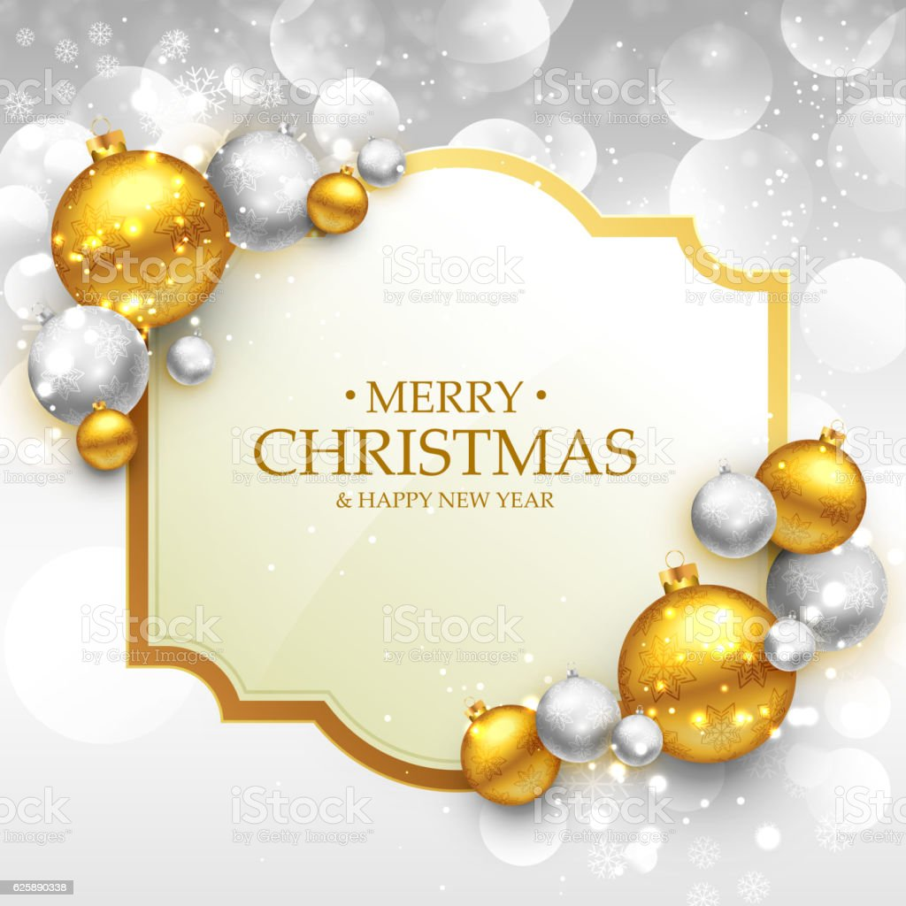 Merry christmas greeting card template with gold and silver chri merry christmas greeting card template with gold and silver chri royalty free merry christmas greeting m4hsunfo Gallery