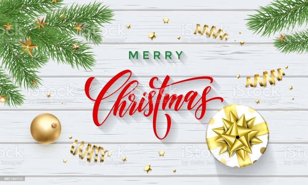 Geschenkband Frohe Weihnachten.Frohe Weihnachten Grusskartenvektor Geschenkband Neujahr
