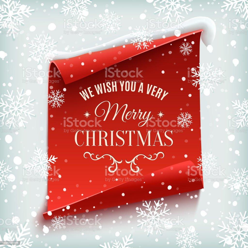 Merry Christmas greeting card. vector art illustration