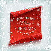 Merry Christmas greeting card.