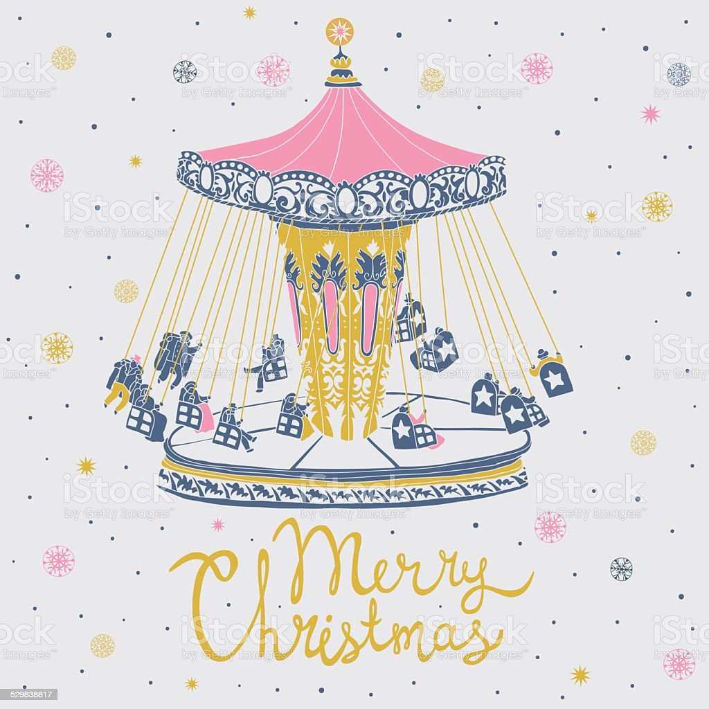 Merry Christmas Greeting Card Stock Vector Art More Images Of