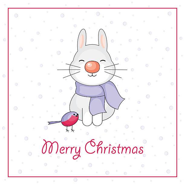 frohe weihnachten grußkarte - dompfaff stock-grafiken, -clipart, -cartoons und -symbole