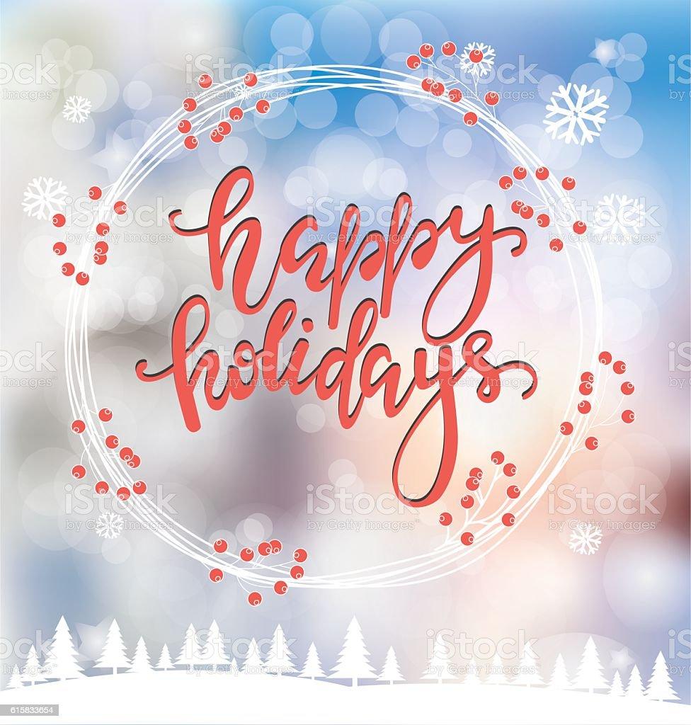 Merry Christmas greeting card vector art illustration