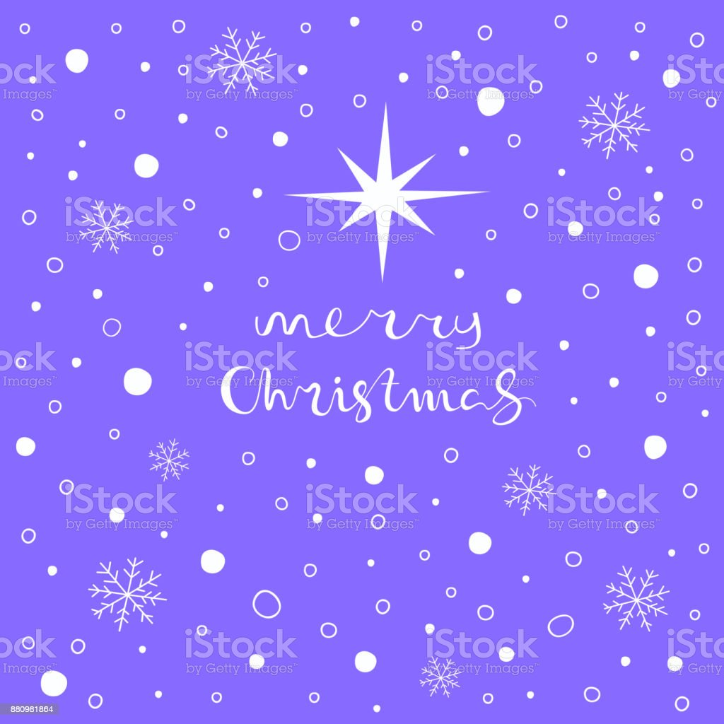 Merry Christmas Greeting Card Stock Vector Art More Images Of Art
