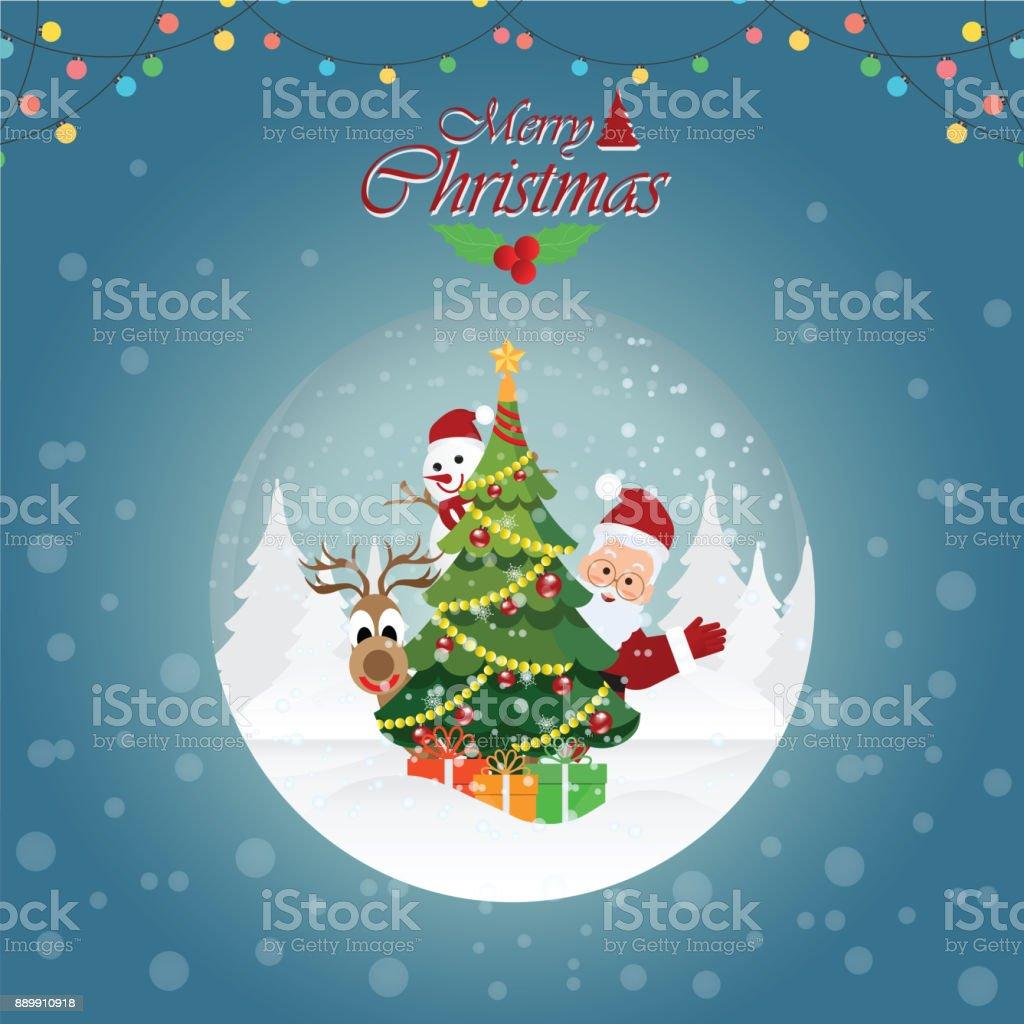 Frohe Weihnachten Grusskarte Mit Weihnachten Santa Claus4 Stock ...