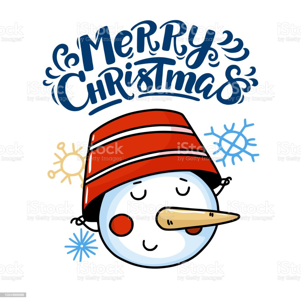 merry christmas greeting card with funny snowman royalty free merry christmas greeting card with funny - Funny Merry Christmas Greetings