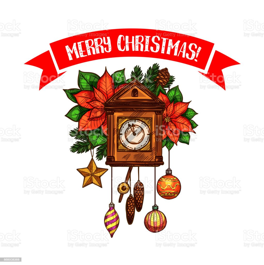 Merry christmas greeting vector clock sketch icon stock vector art merry christmas greeting vector clock sketch icon royalty free merry christmas greeting vector clock sketch kristyandbryce Choice Image