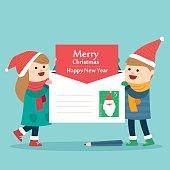 Merry Christmas greeting. vector illustration