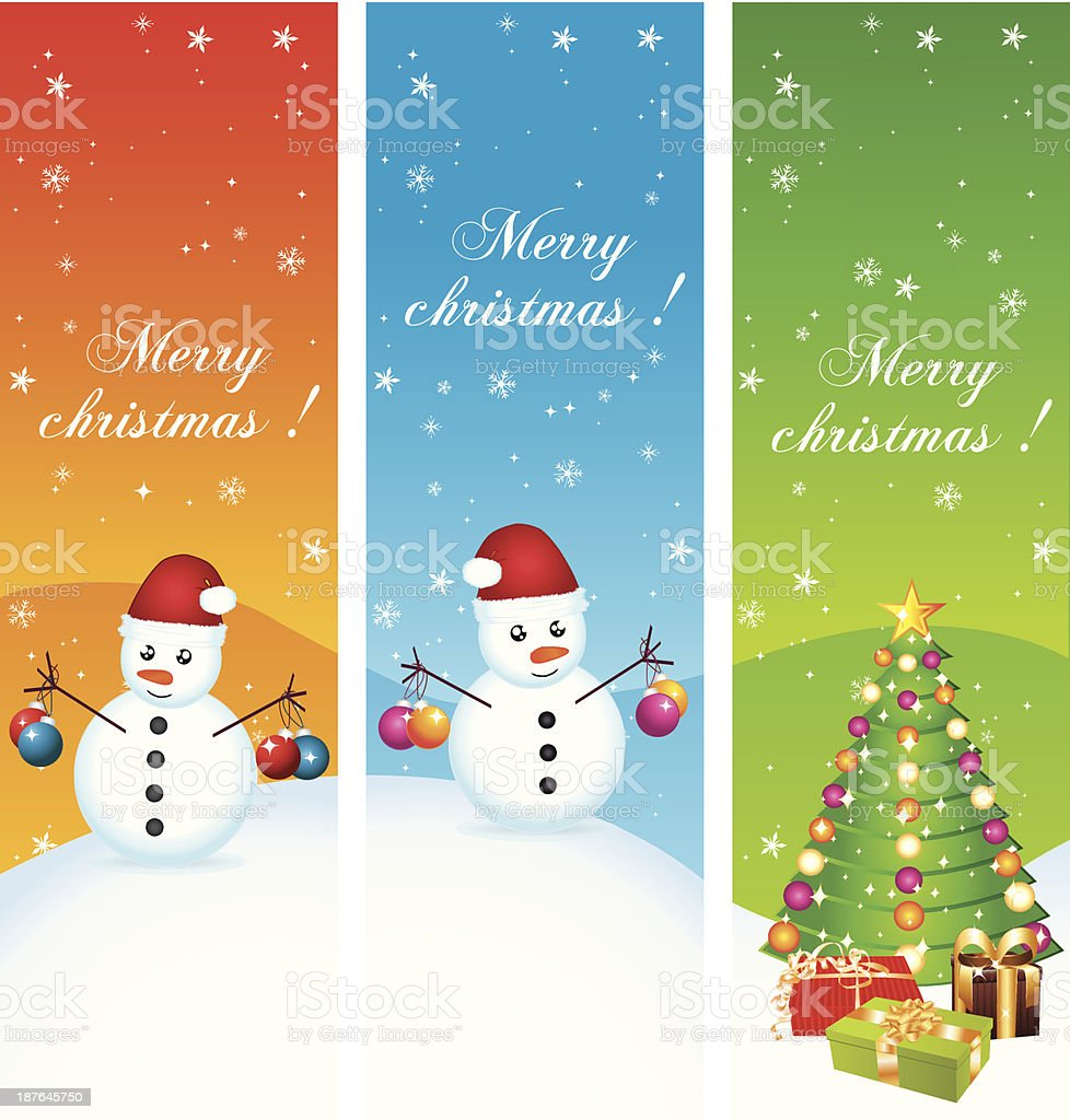 Frohe Weihnachten Begrüßung Vertikale Banner Vektor Illustration ...