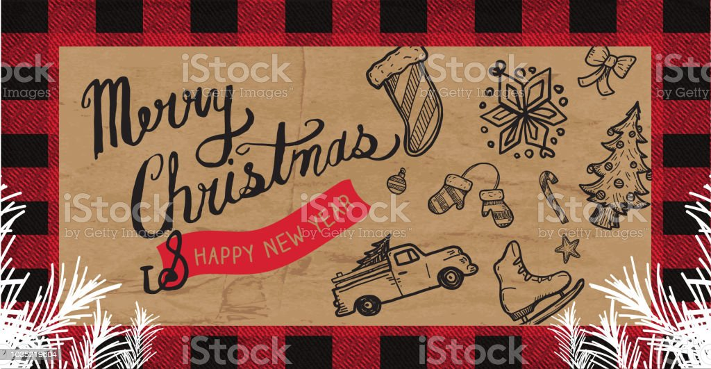 Merry Christmas Greeting web banner design template vector art illustration