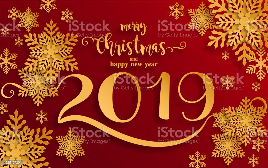 Merry christmas greetings and happy new year 2019 - New year 2019 color ...