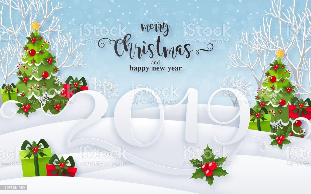 Weihnachtsgrüße Vorlage.Frohe Weihnachtsgrüße Und Frohes Neues Jahr 2019 Vorlagen Mit