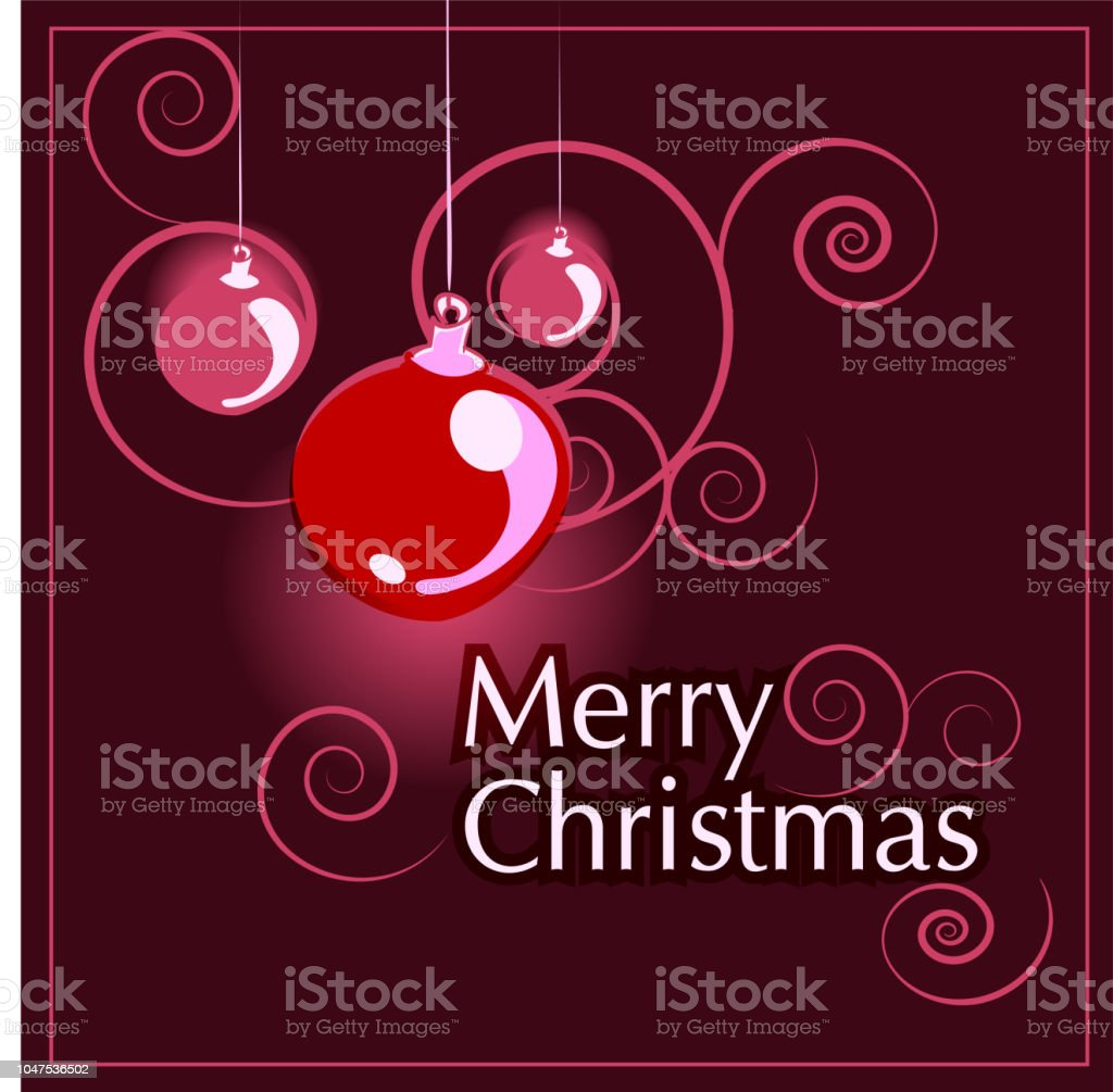 Merry Christmas Greetings Card Design With Hand Drawn Christmas