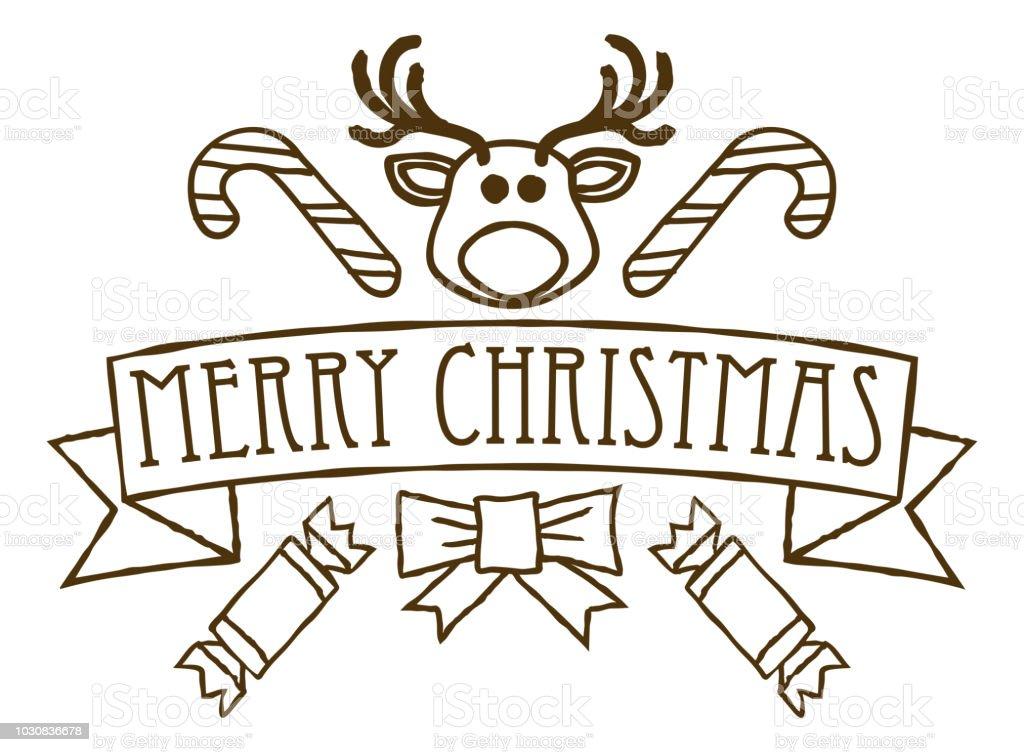 Vetores De Desenho De Saudacoes De Feliz Natal E Mais Imagens De