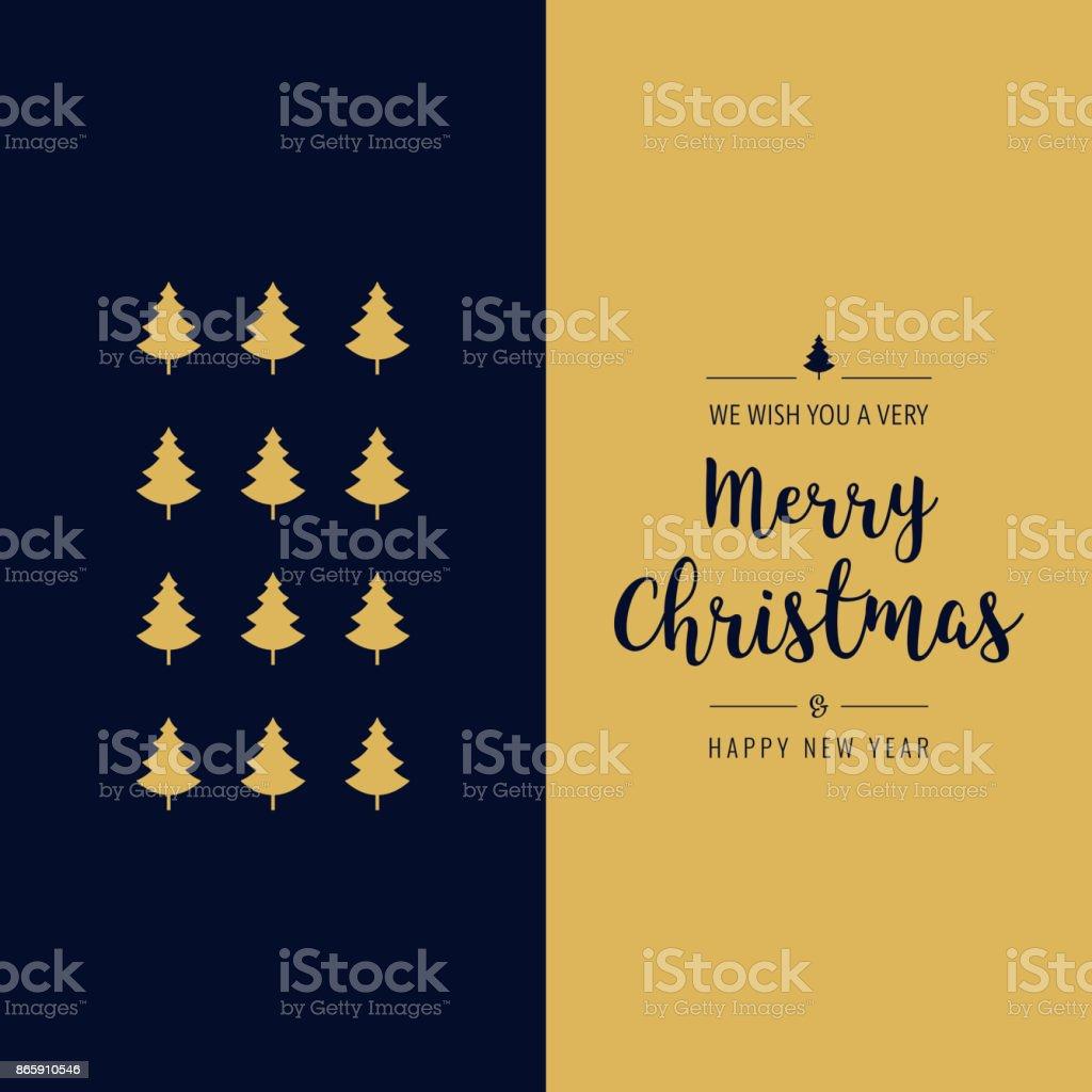 Frohe Weihnachten Text Karte.Frohe Weihnachten Gretting Text Karte Typ Gold Blau Stock