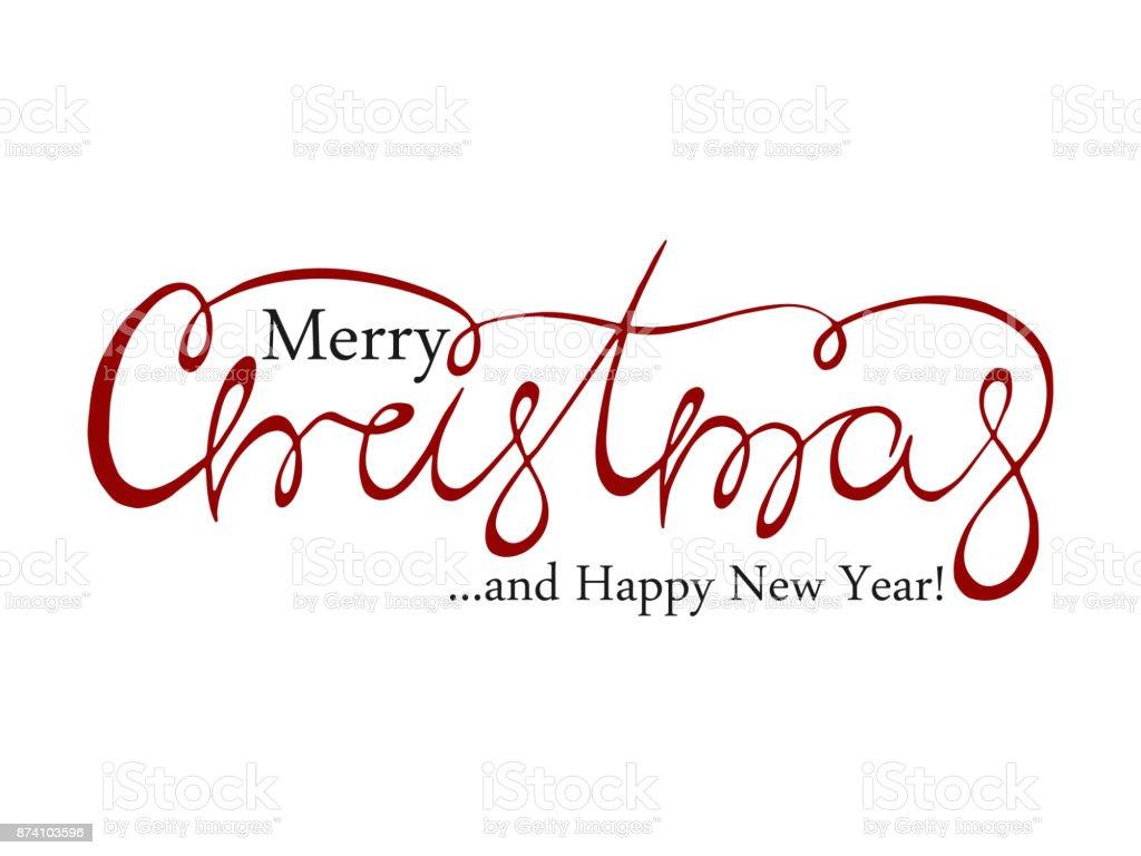 Frohe Weihnachten Handgezeichnete Kalligraphische Schrift Text ...