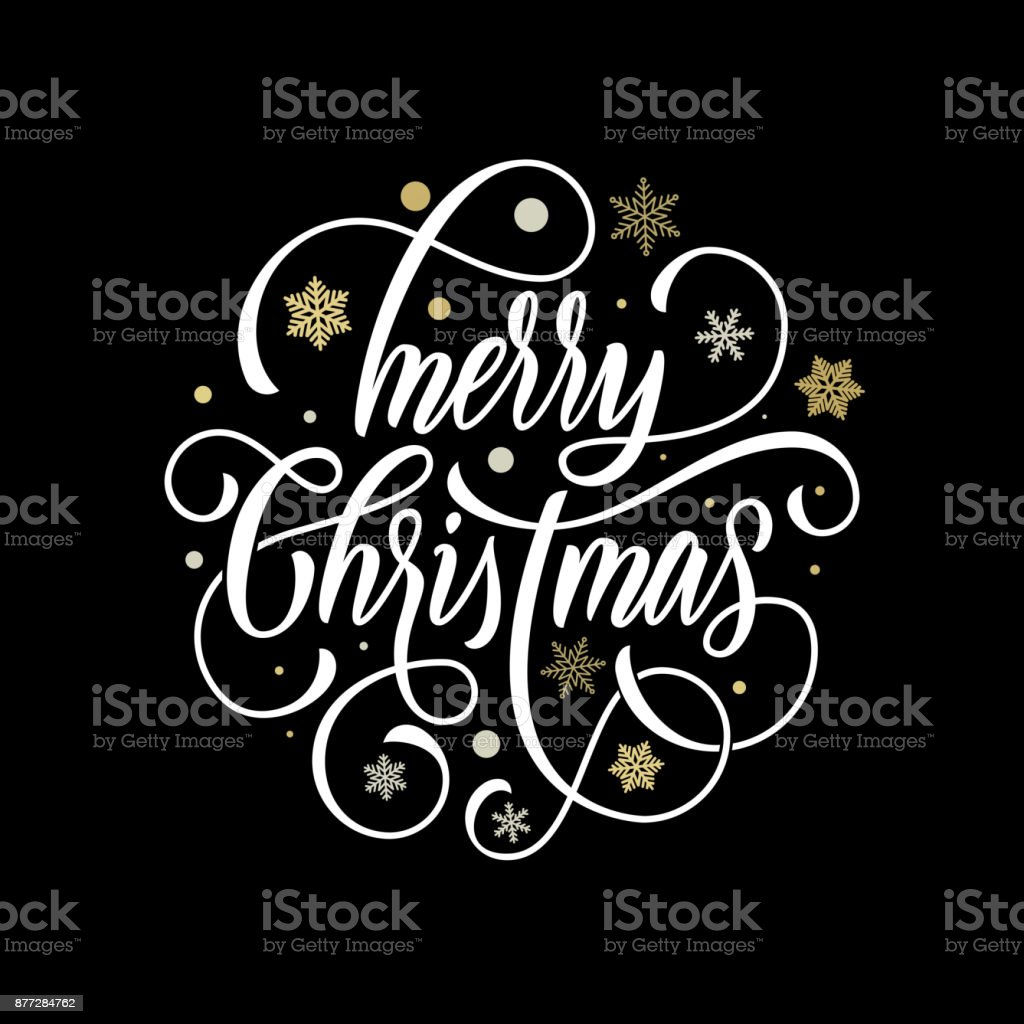 Main De Noël Joyeux Dessinée Calligraphie Lettrage Sur Fond