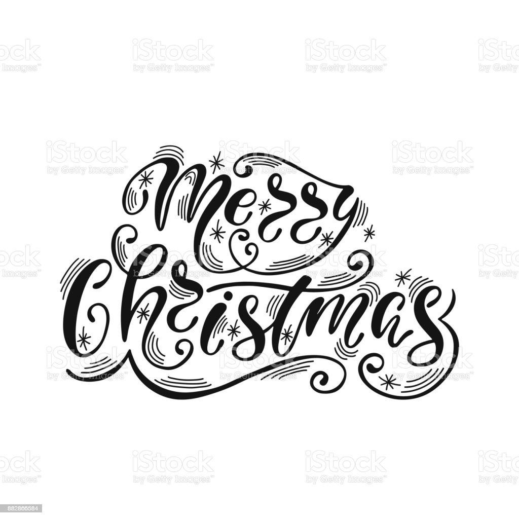 Joyeux Noël Texte De Calligraphie Dessinés à La Main