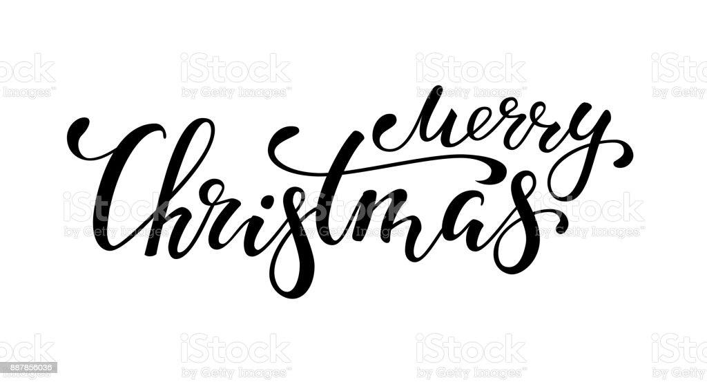 Frohe Weihnachten. Handgezeichnete kreativ Kalligraphie und Pinsel Stift Schriftzug. Design für Urlaub Grußkarten und Einladungen der Frohe Weihnachten und Happy New Year, Banner, Logo, saisonale Urlaub – Vektorgrafik
