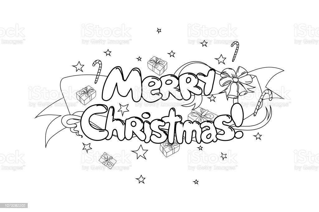 Joyeux Noël Illustration Vectorielle De Main Dessiné Dessin